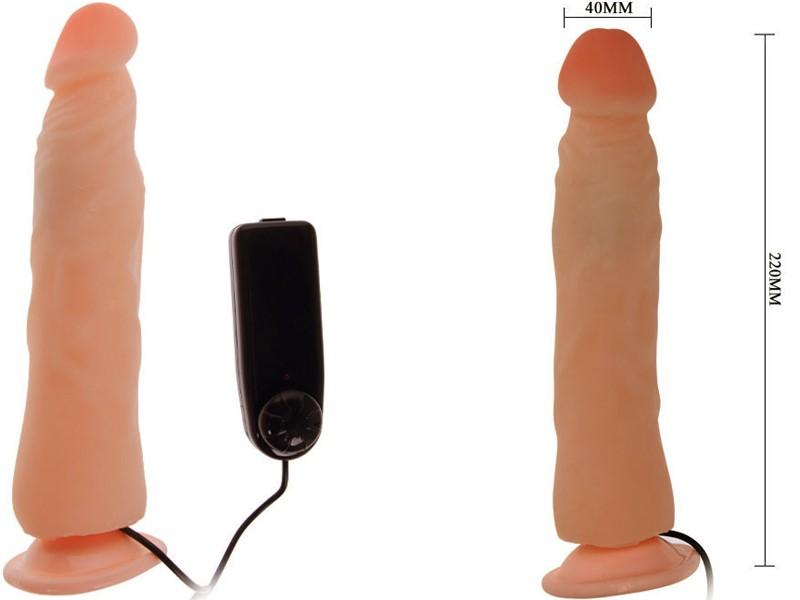 Sex toy dương vật giả thẳng đứng có đế Rough 2