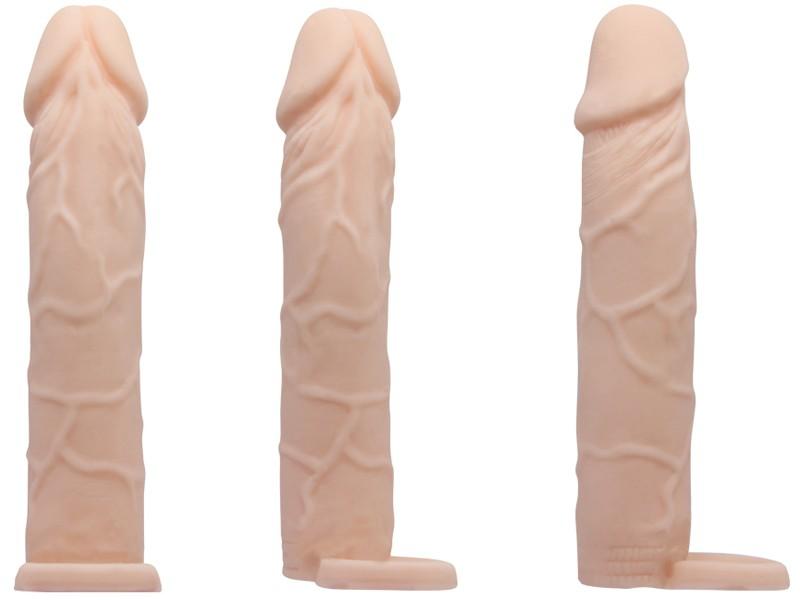 Sex toy bao cao su đôn dên Prettylove cao cấp có quai đeo 7 inch 2