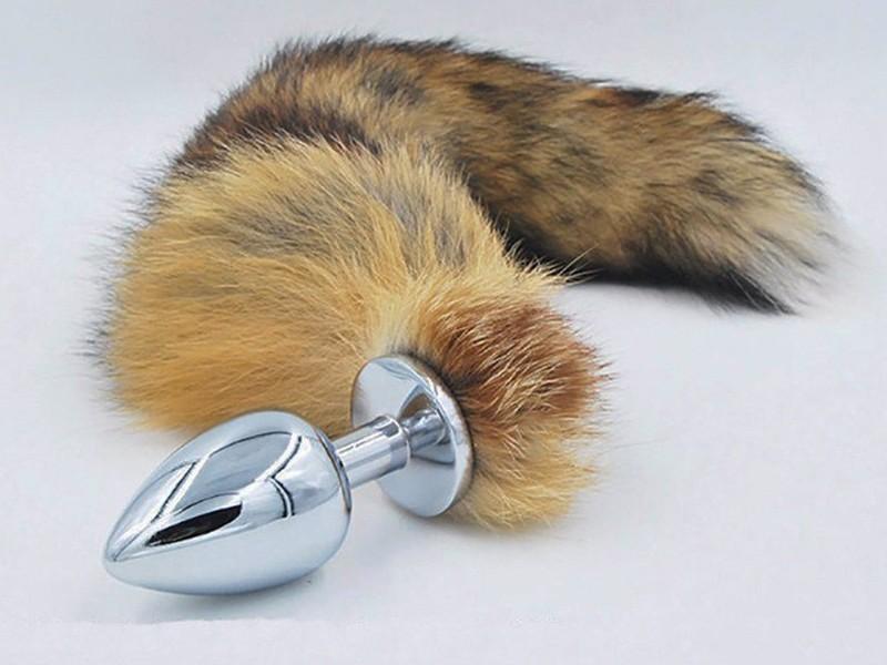 Sex toy kích thích hậu môn hợp kim đuôi chồn 4
