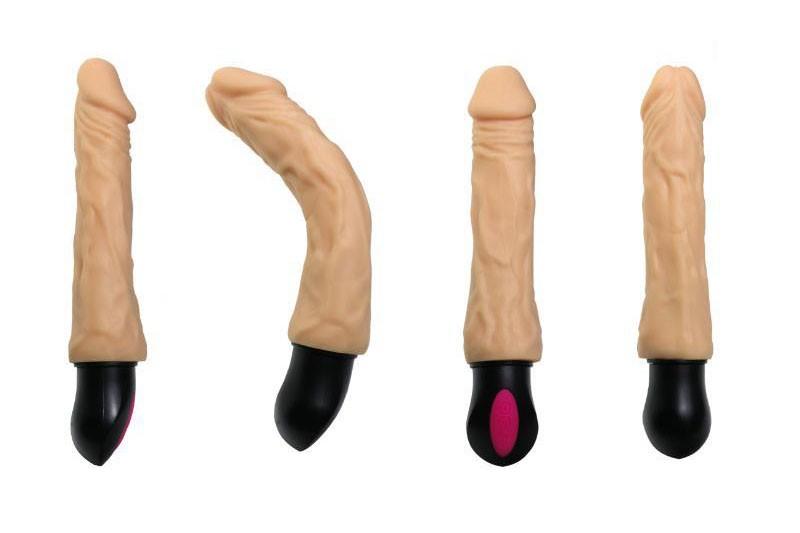 Sex toy dương vật giả XL913 pin sạc phát nhiệt 12 tần số rung 1