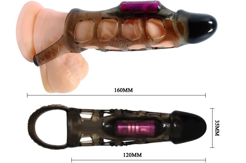 Sex toy rọ đeo dương vật có quai đeo thân rung Men Extension 3