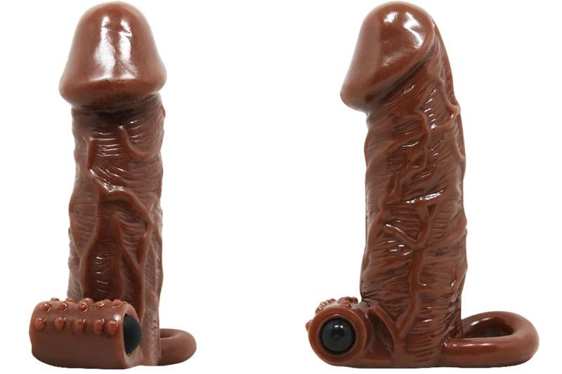 Sex toy bao cao su đôn dên Brave Man rung có quai đeo 2