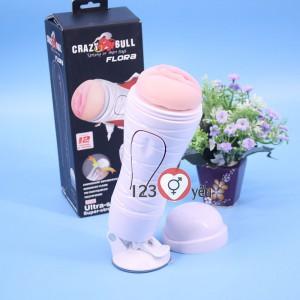 Sex toy âm đạo giả Crazy Bull có đế dạng CUP pin sạc