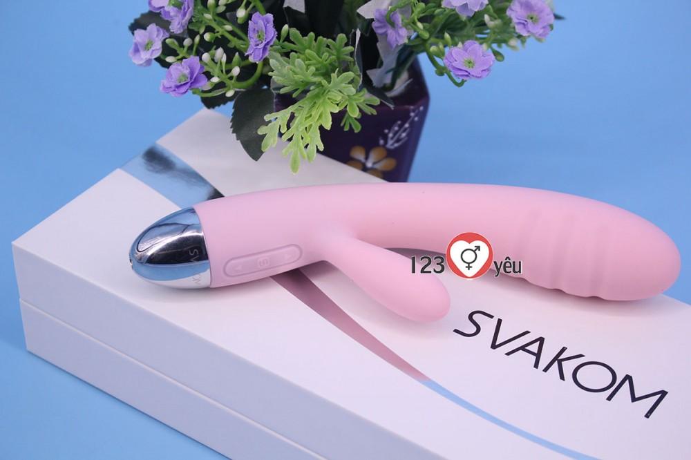 Máy massage điểm G pin sạc hàng Mỹ tiêu chuẩn châu Âu Svakom Barbara 14