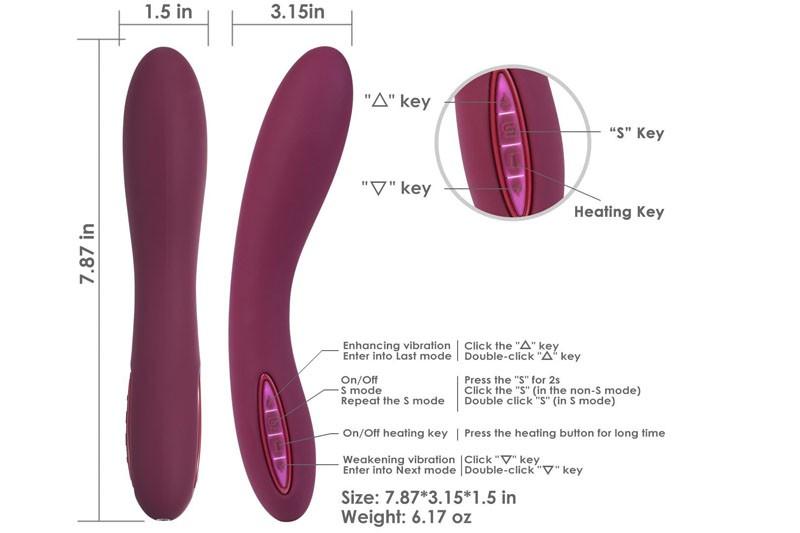 Sex toy massage điểm G Svakom Leslie phát nhiệt nhập khẩu Mỹ 1
