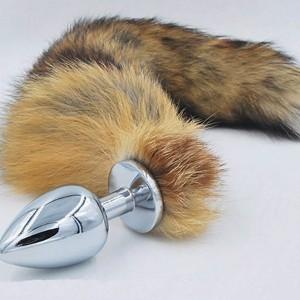 Sex toy kích thích hậu môn hợp kim đuôi chồn